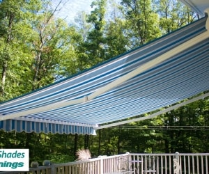 Bella_Motorized_Blue_Stripes_Retractable_Awning_Cassette_Open