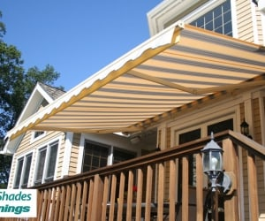 Elite_Motorized_Retractable_Awning_Yellow_Blue_Stripes